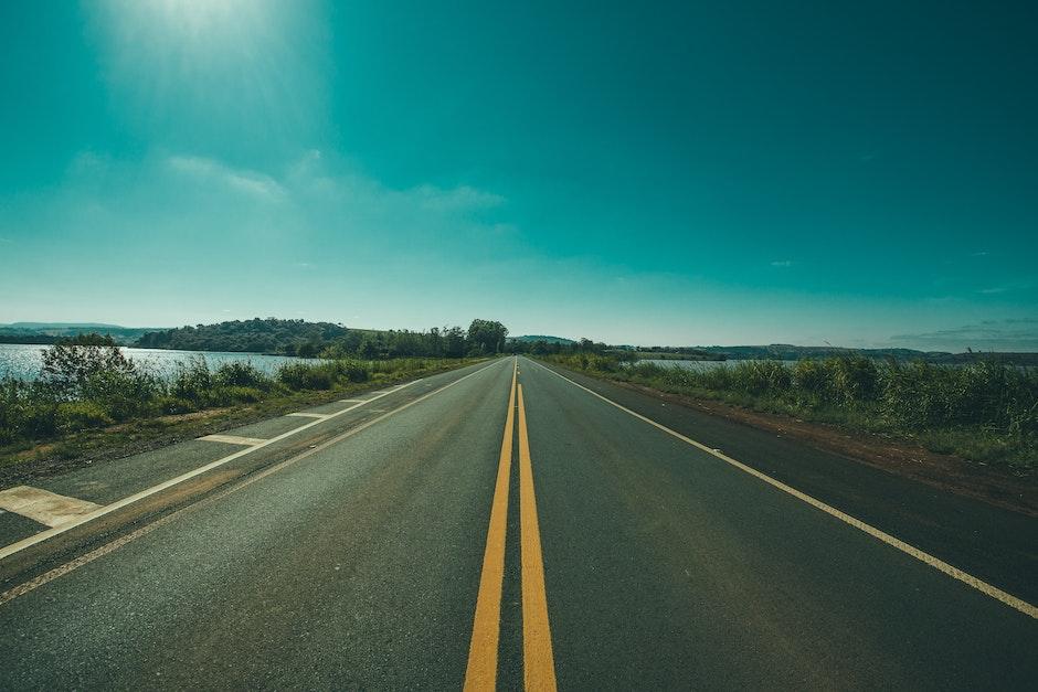 asphalt, countryside, empty