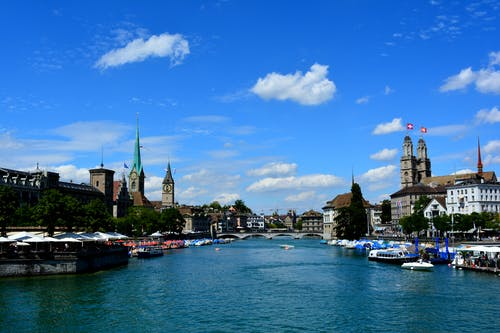 Free stock photo of riverbank, water, zurich