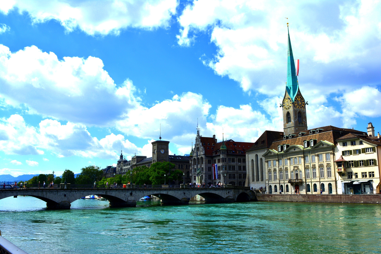 Gratis lagerfoto af bro, katedral, landskab, zürich