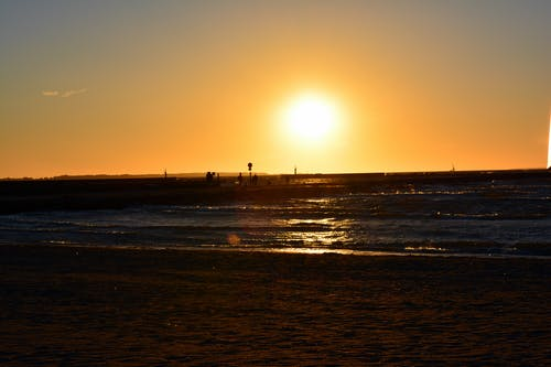 Free stock photo of beach, sea, sunset