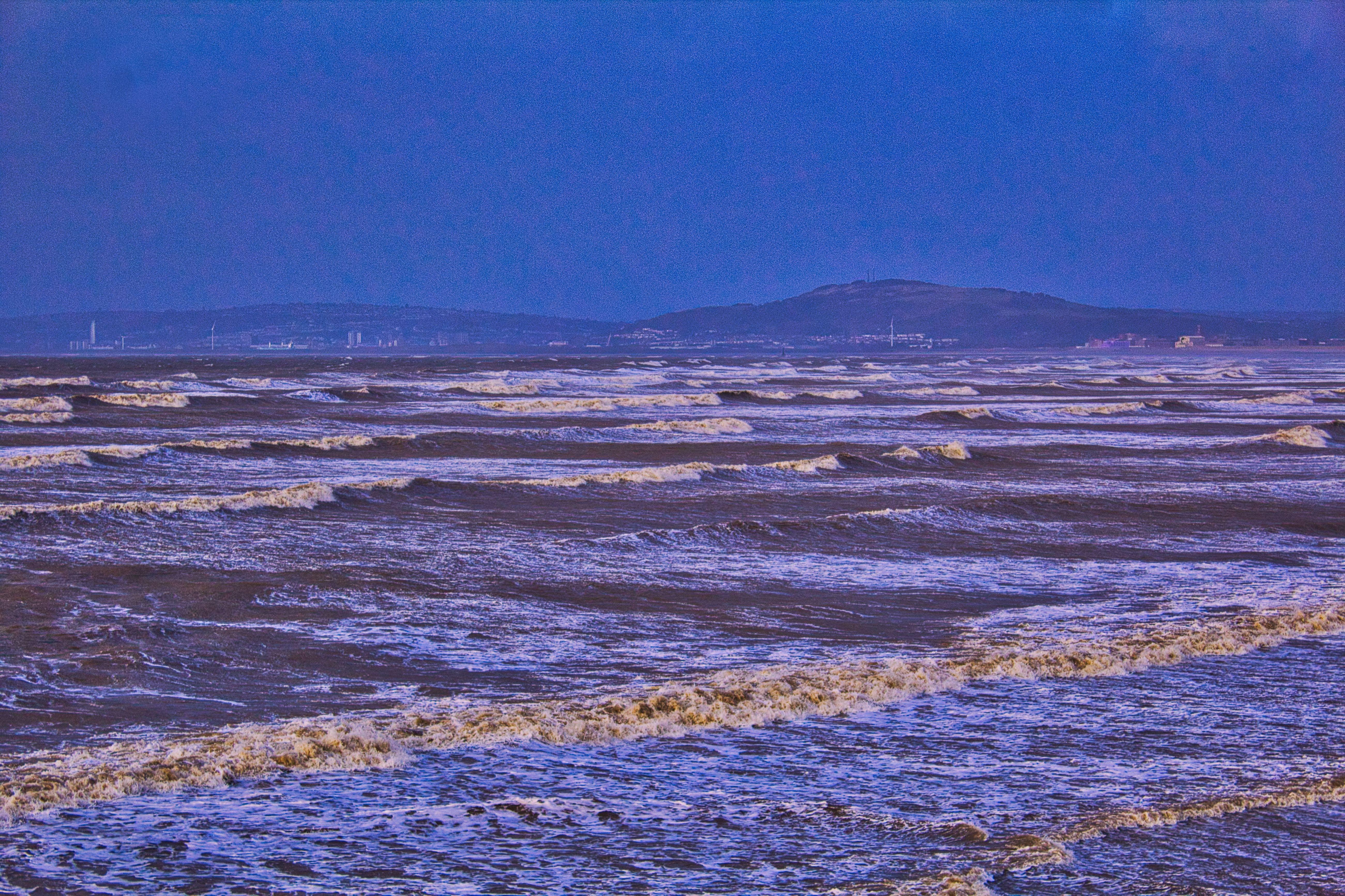 Foto d'estoc gratuïta de acomiadar-se, badia de swansea, Escuma de mar, mar