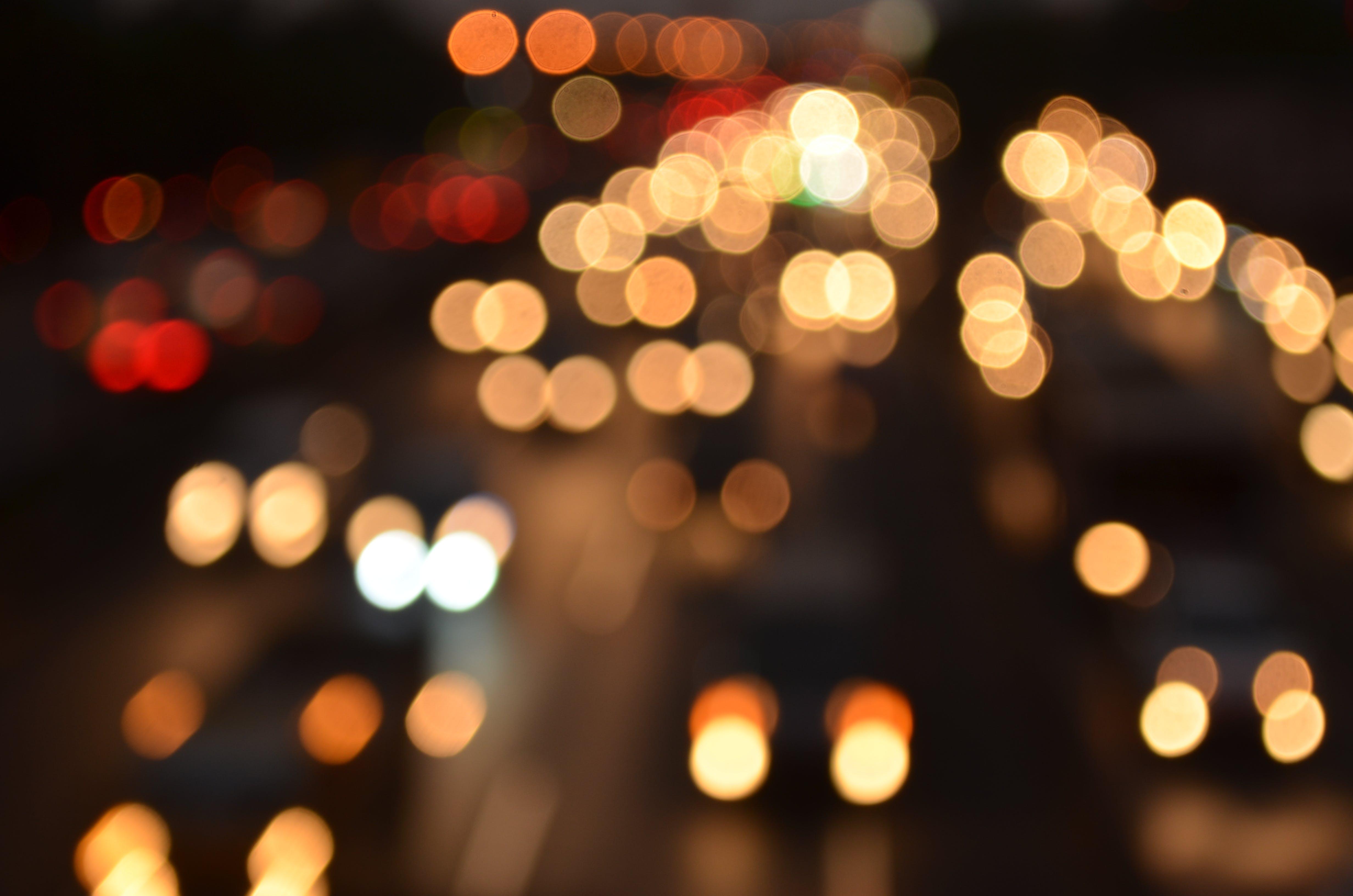 Free stock photo of building, car, car lights, night