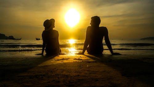 Free stock photo of beach, couple, couple goal