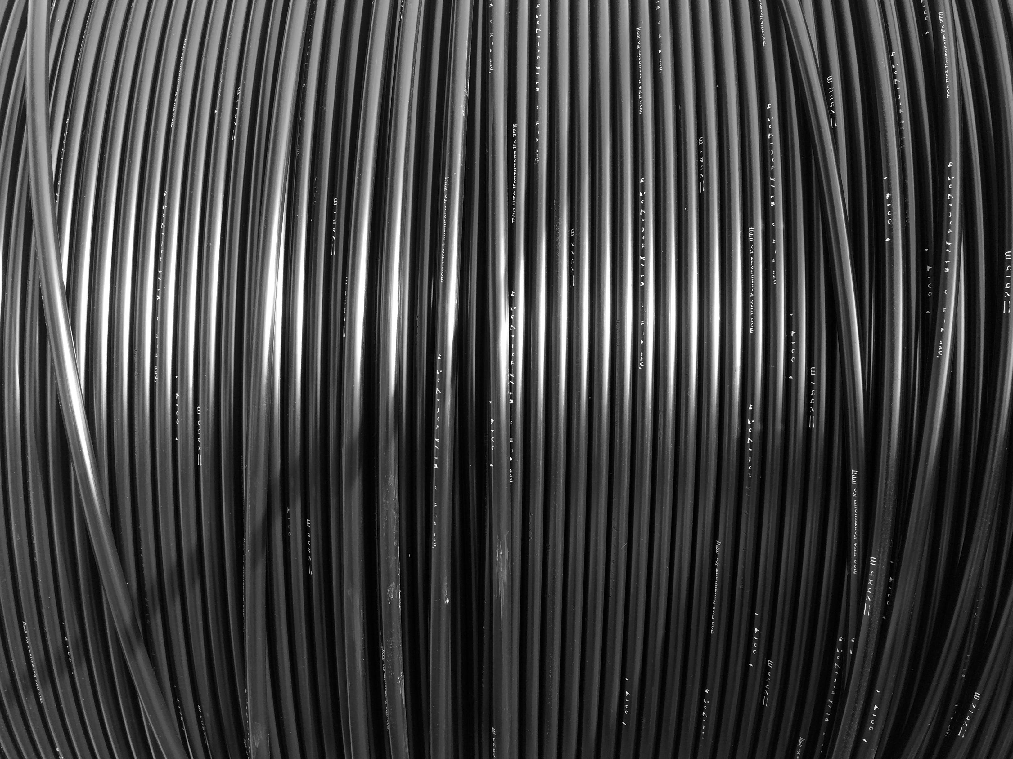 Free stock photo of black, black and white, cable, words