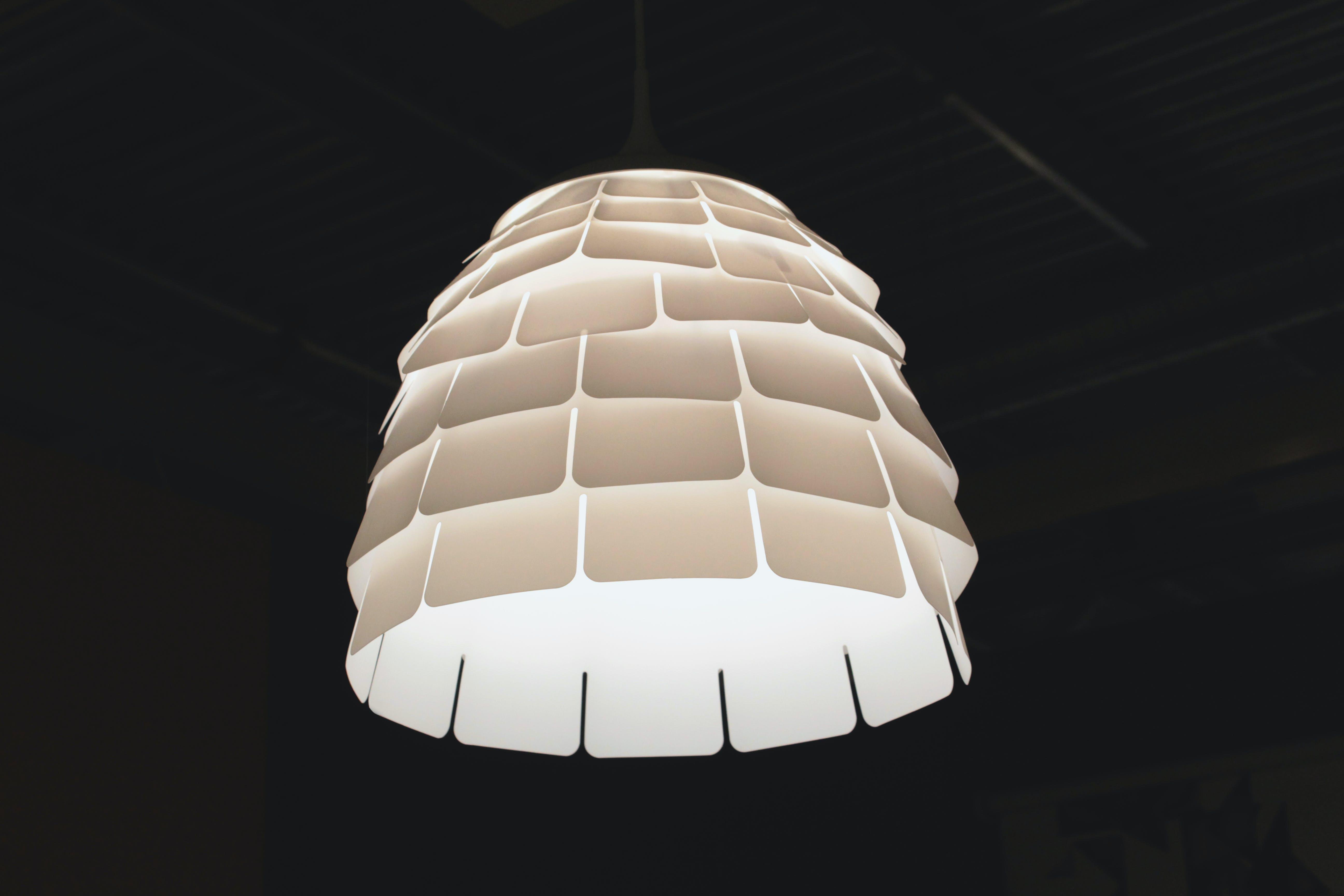 Turned on White Pendant Lamp