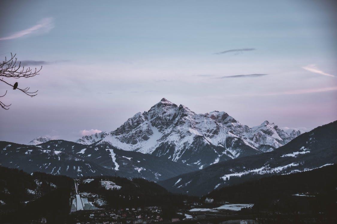 bakgrund, bergen, bergskedja