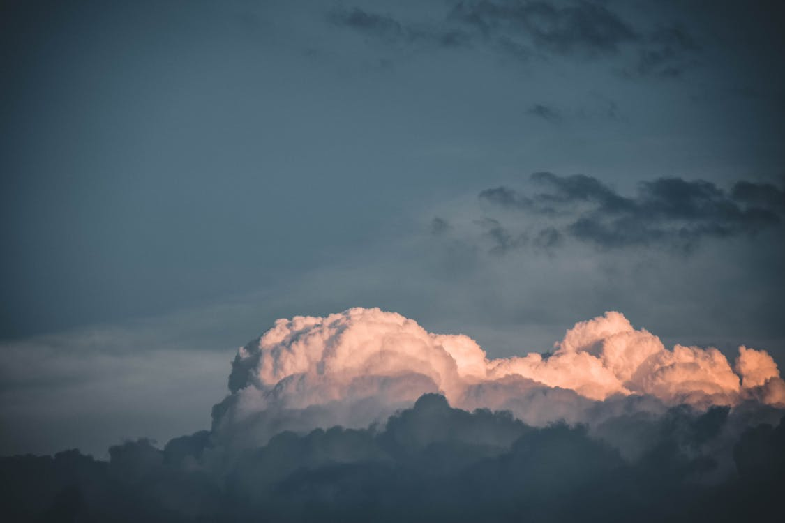 himmel, malerisk, miljø