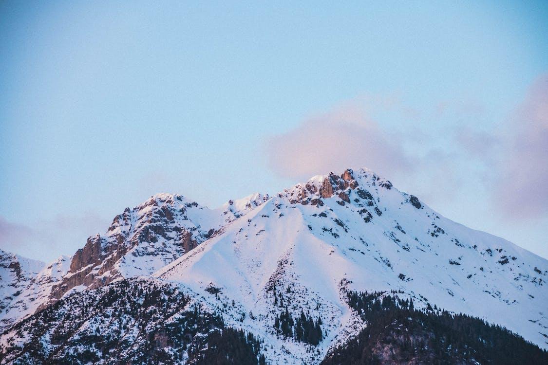 abenteuer, berg, blauer himmel