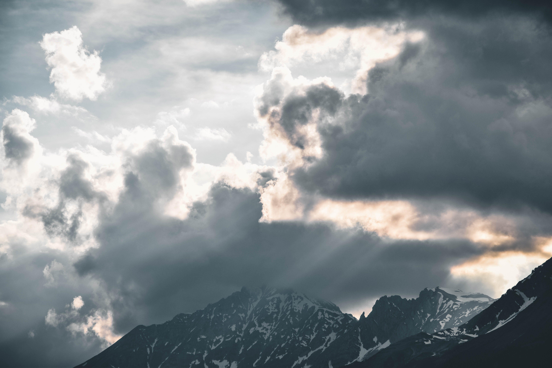 Low Angle Photography of Sky Near Mountain