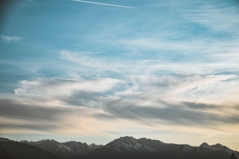 Gratis lagerfoto af aften, baggrund, bjerg, blå