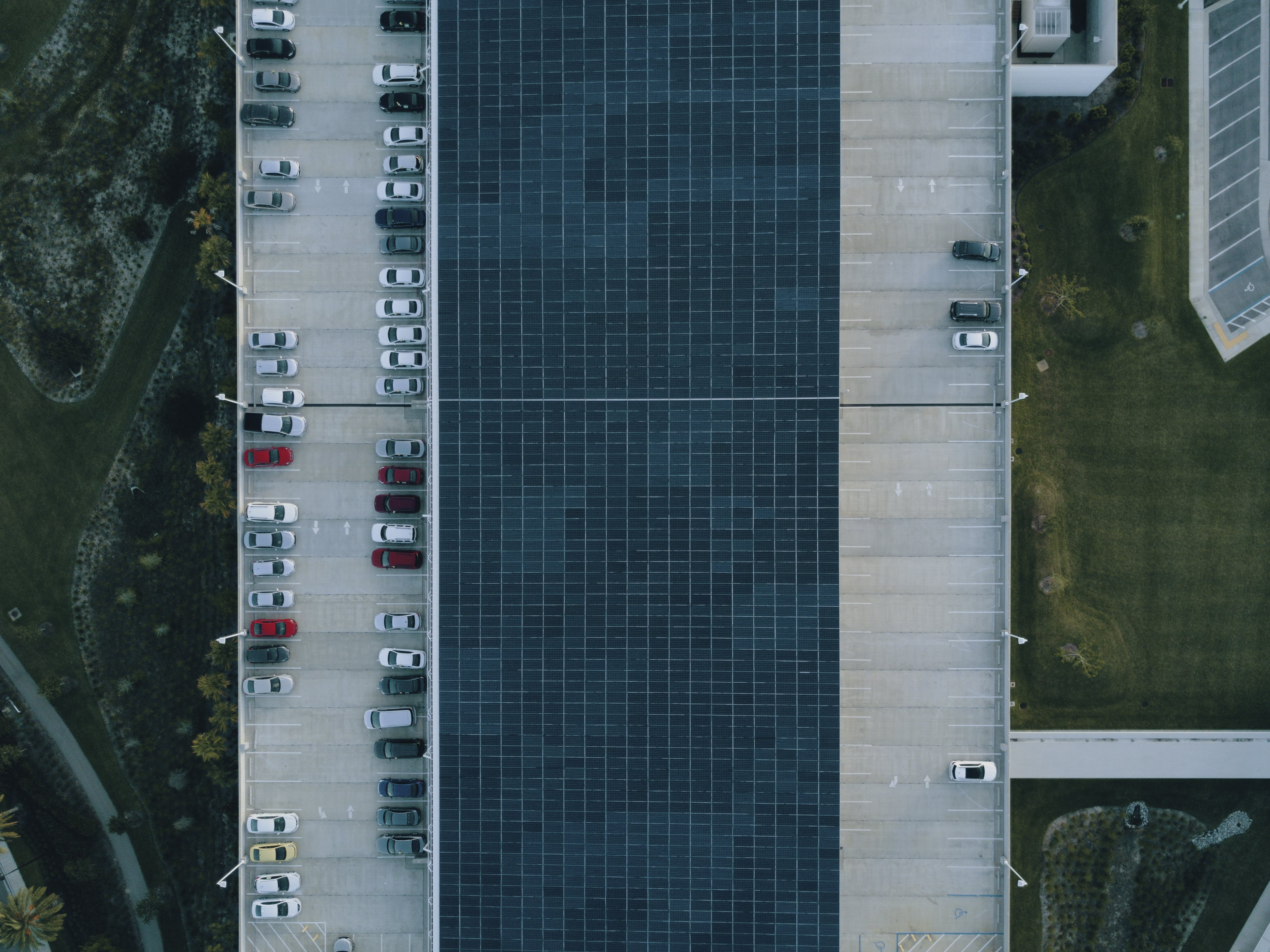 Bird's Eye View of Parking Lot