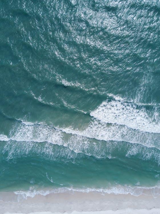 agua, arena, bonito