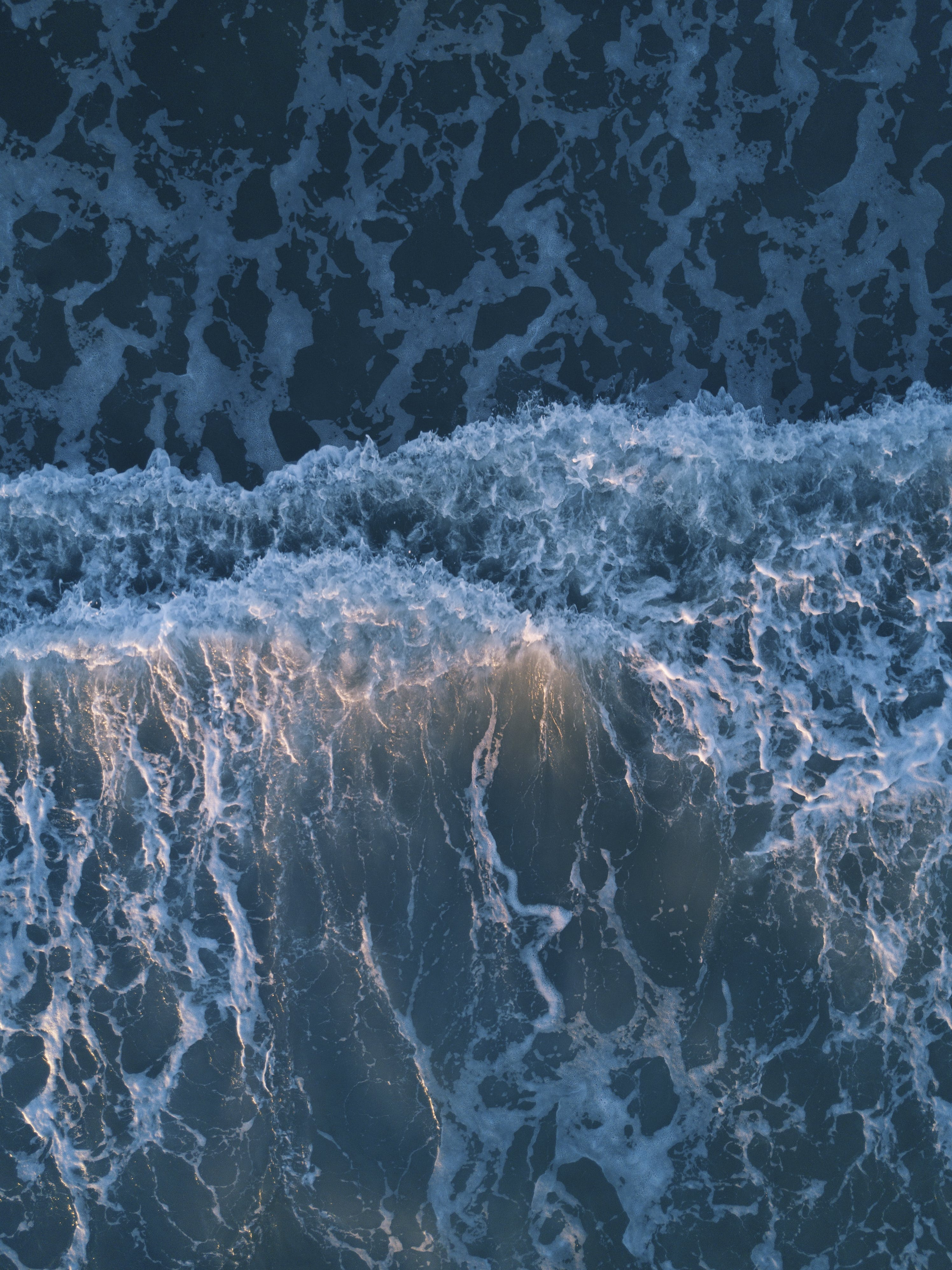 Top View Photo of Ocean Waves