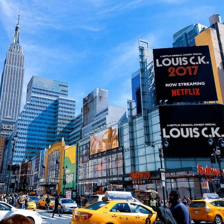 architektura, billboard, budynek
