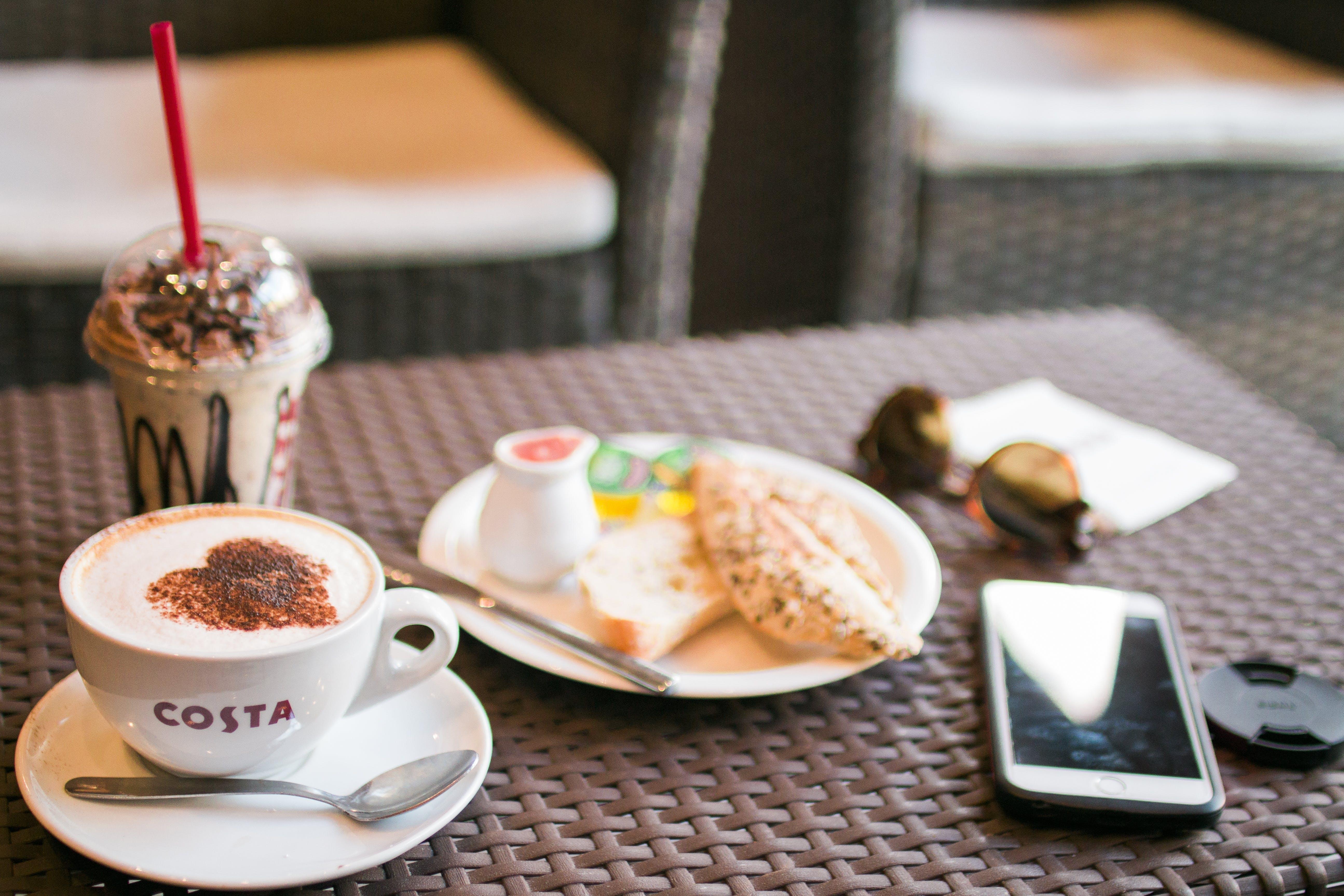 café, coffee, food
