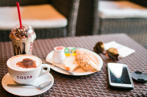 Foto profissional grátis de alimento, aperitivos, café, macro