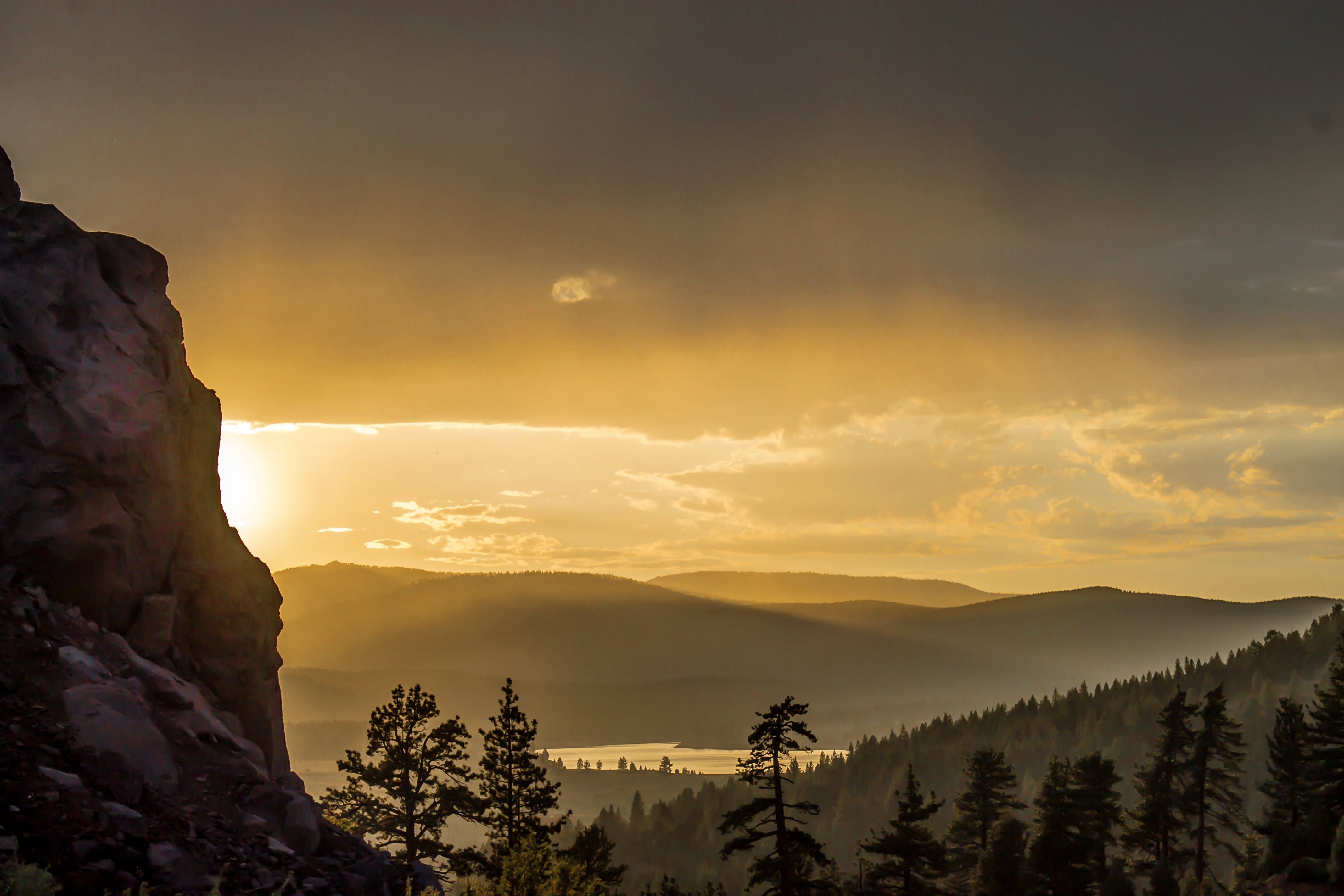 Photography Of Mountain During Golden Hour