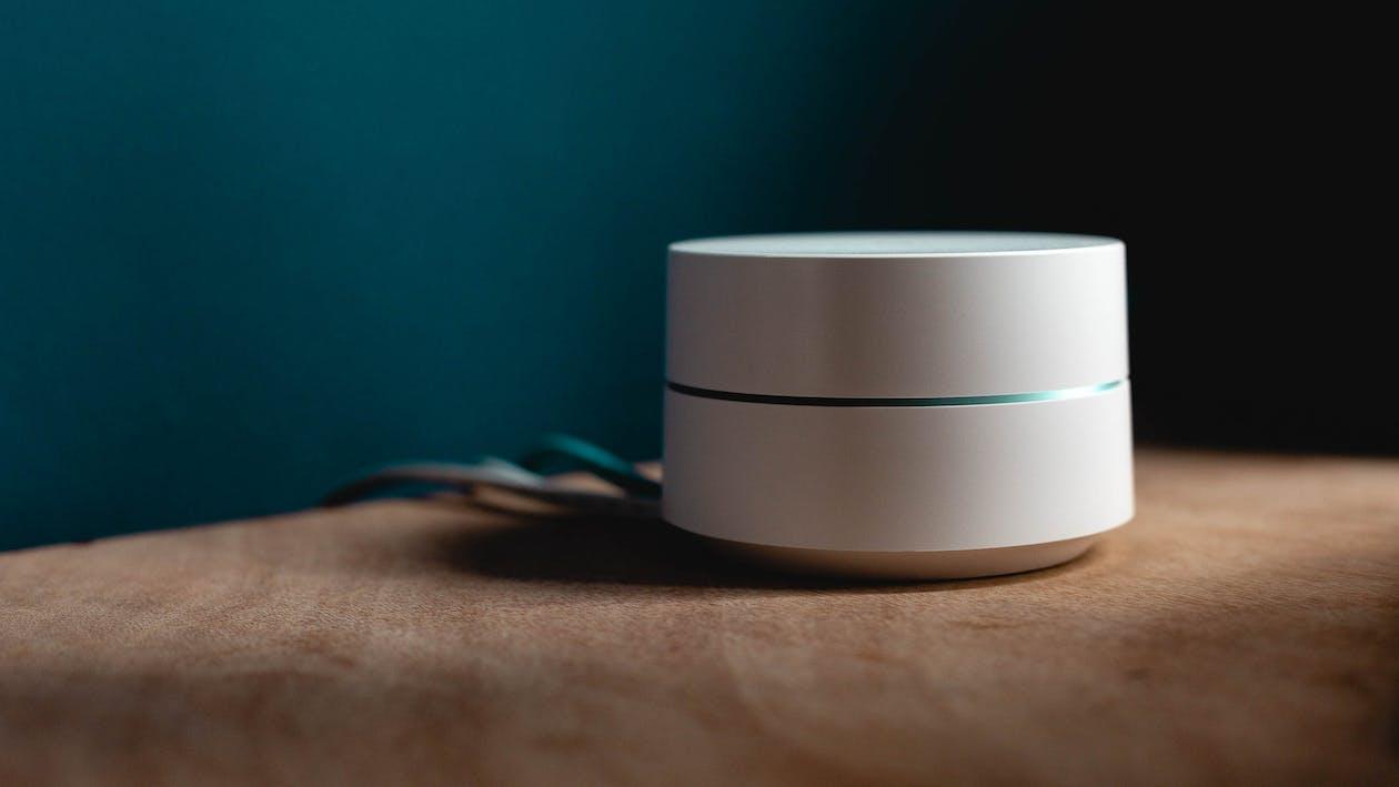 White Speaker On Surface