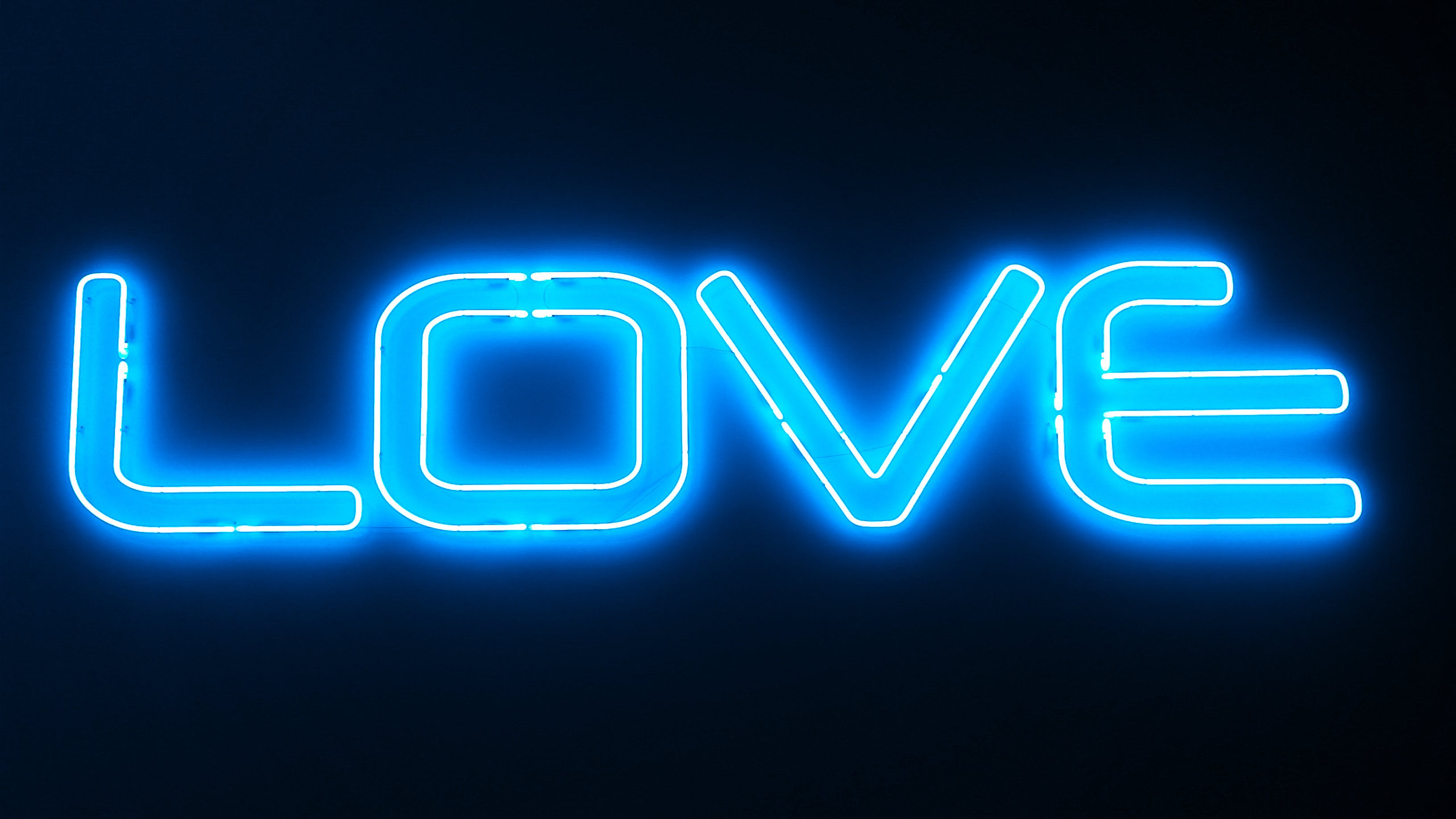 Free stock photo of love, blue, neon, color