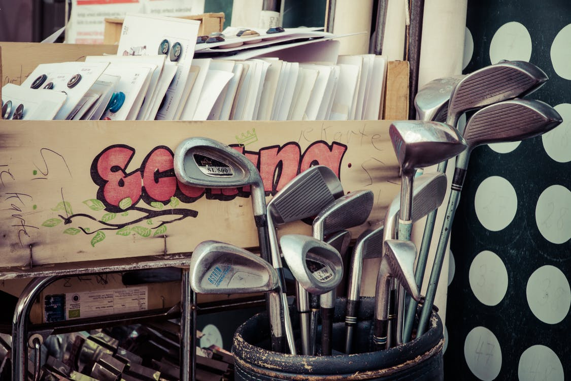 Golf Club in Black Golf Bag