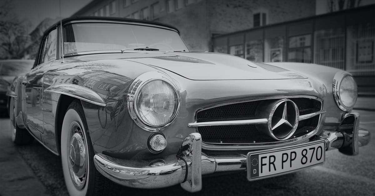 Grayscale Photography Of Classic Mercedes Benz Car  Free Stock Photo-5637