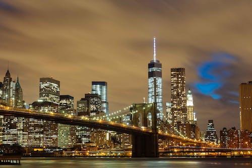 Δωρεάν στοκ φωτογραφιών με brooklyn bridge, αστικός, γέφυρα, γραμμή ορίζοντα