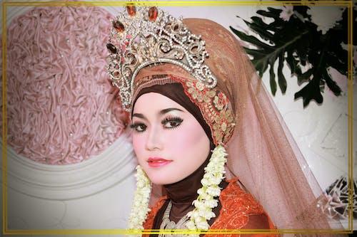 beatiful, 亚洲婚礼, 女性, 婚礼关闭 的 免费素材照片