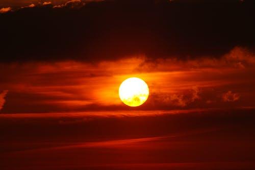 夜明け, 太陽, 日没, 暗雲の無料の写真素材