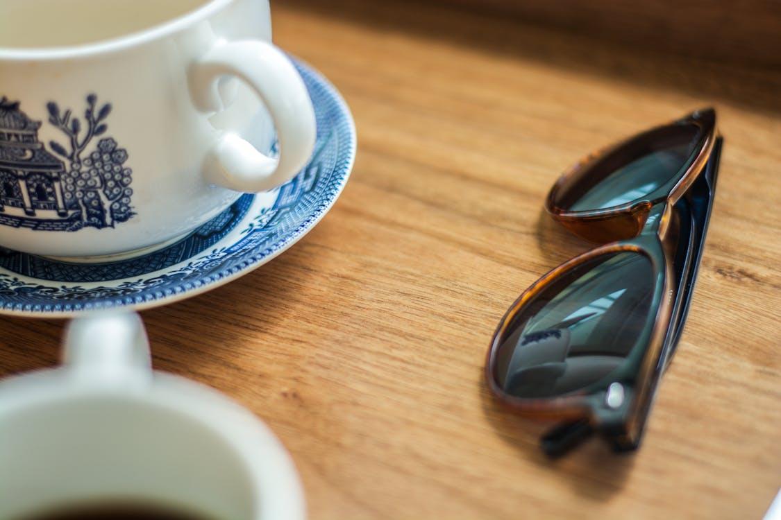 Free stock photo of blue, china, coffee