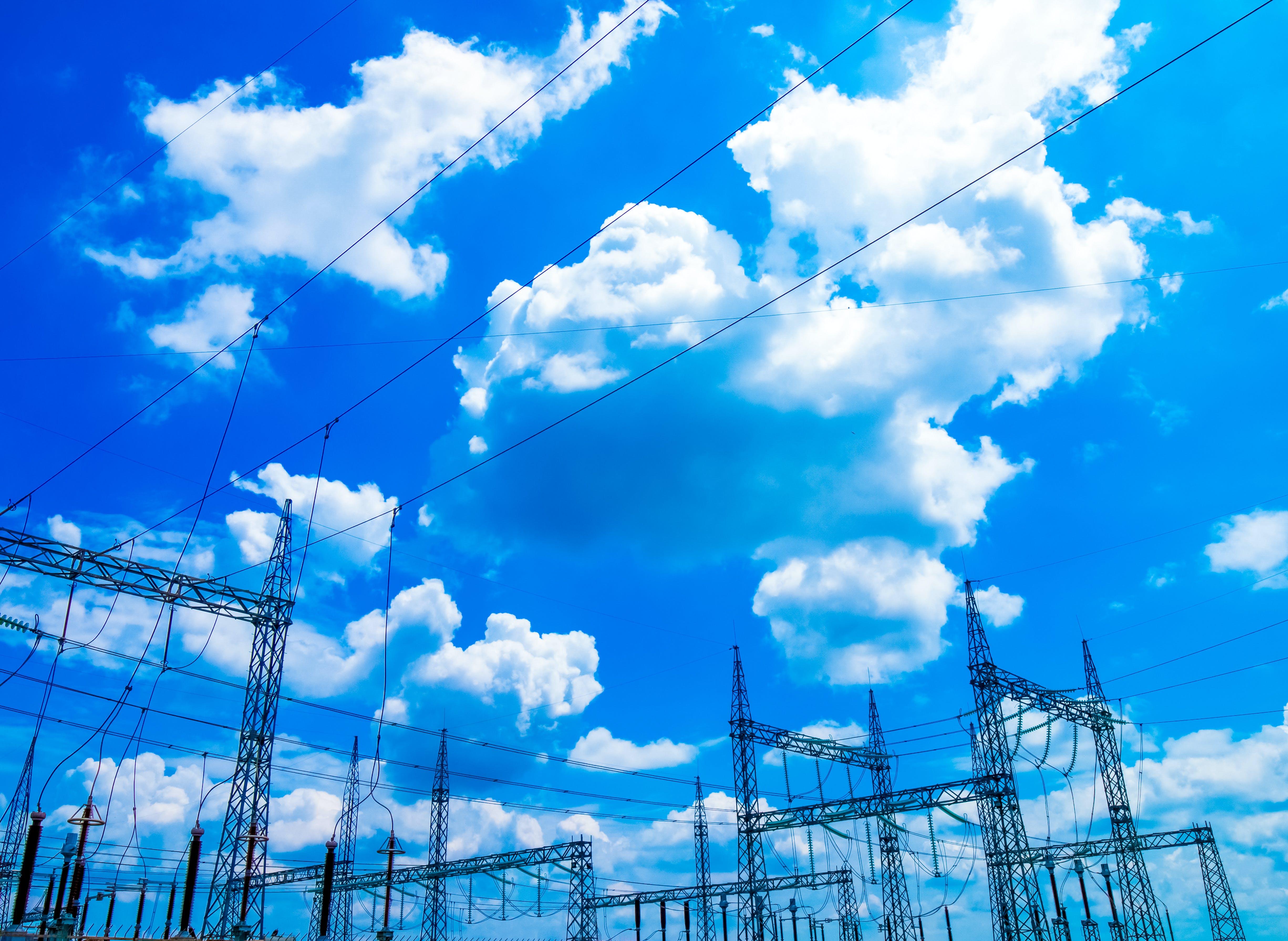 Free stock photo of sky, substation