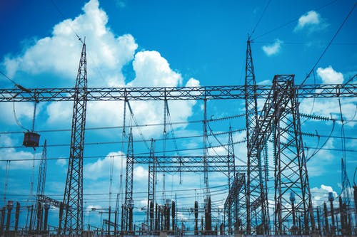 Free stock photo of sky, substation