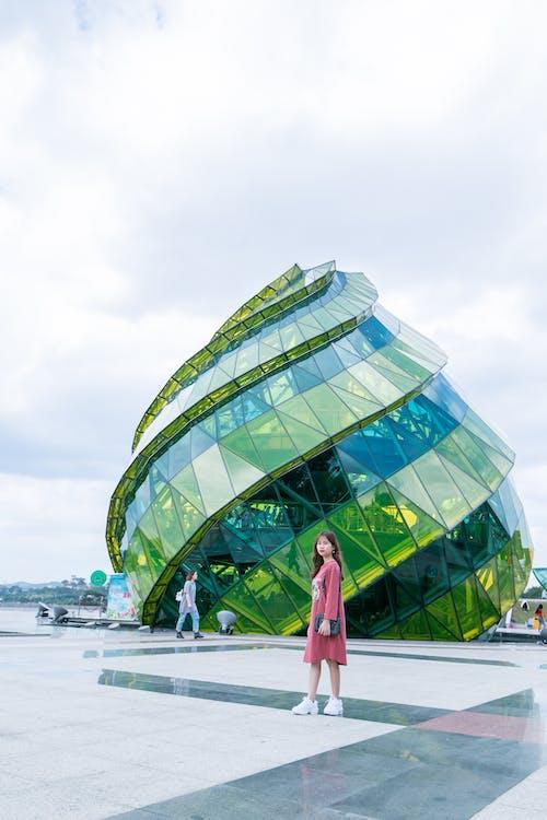 arkitektur, asiatisk kvinde, Asiatisk pige