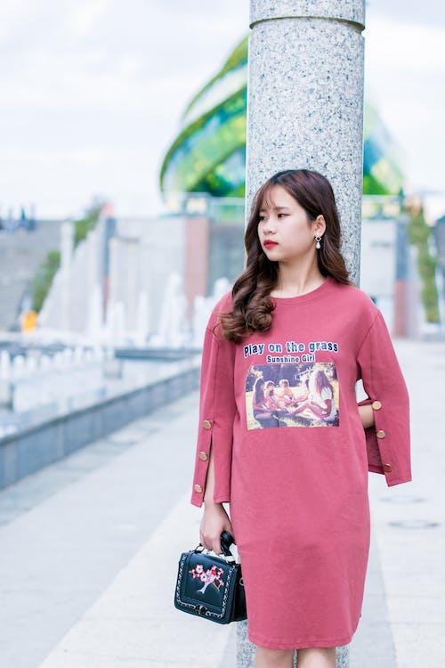 álló kép, aranyos, ázsiai lány