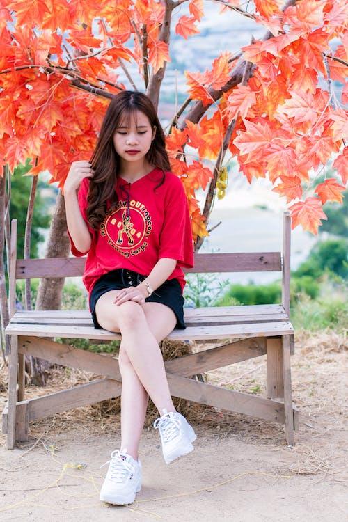 asiatisk jente, asiatisk kvinne, avslapping