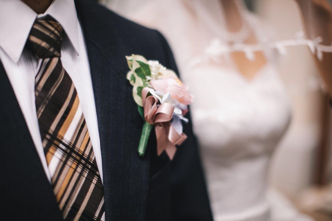 결혼, 꽃, 남성복