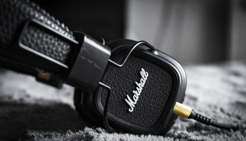 Selective Focus Photography of Marshall Corded Headphones