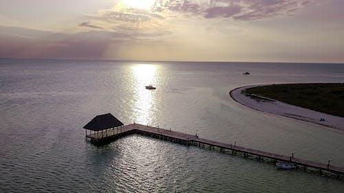 Foto profissional grátis de holbox, litoral, pôr do sol