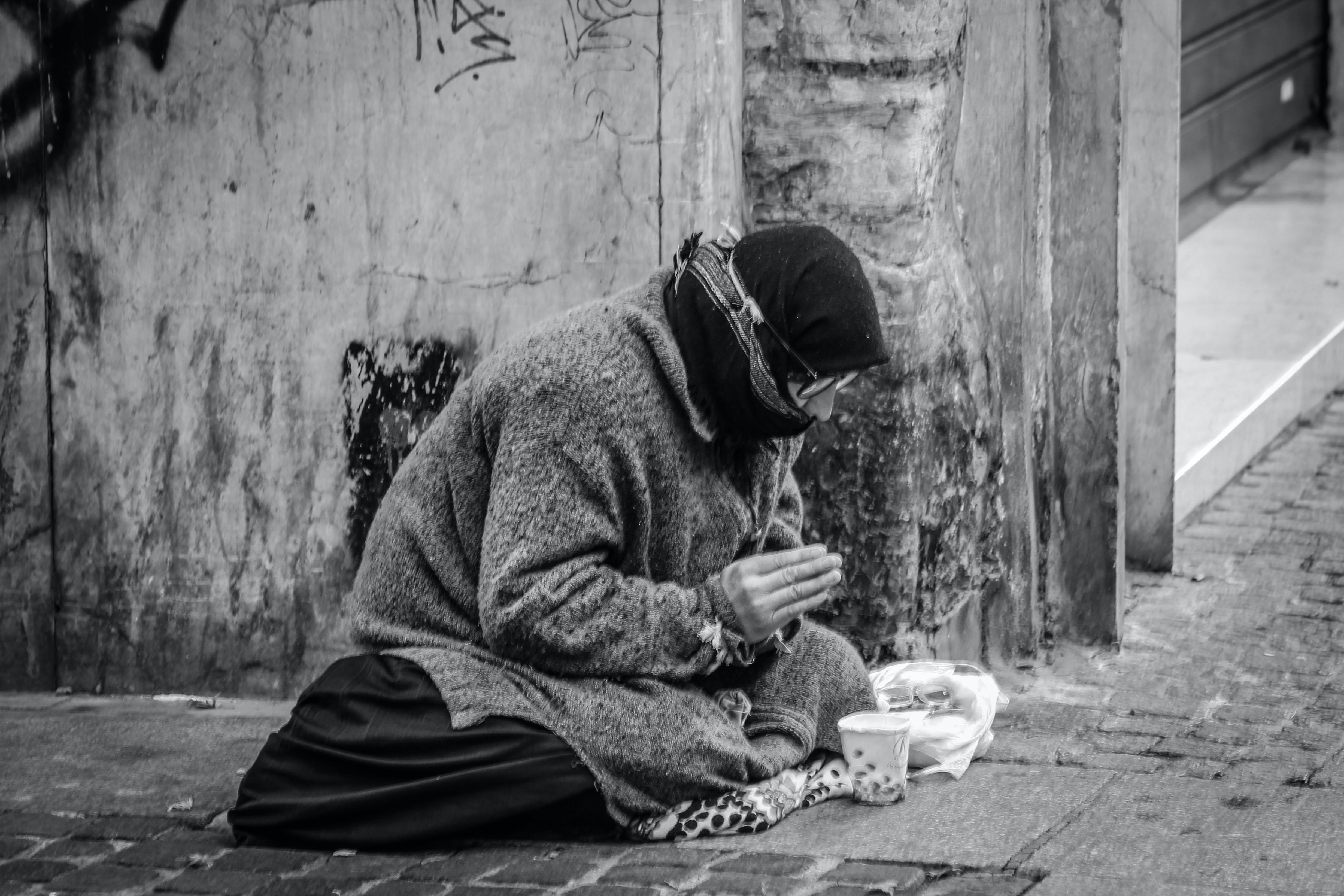 dagslys, fattig, gade