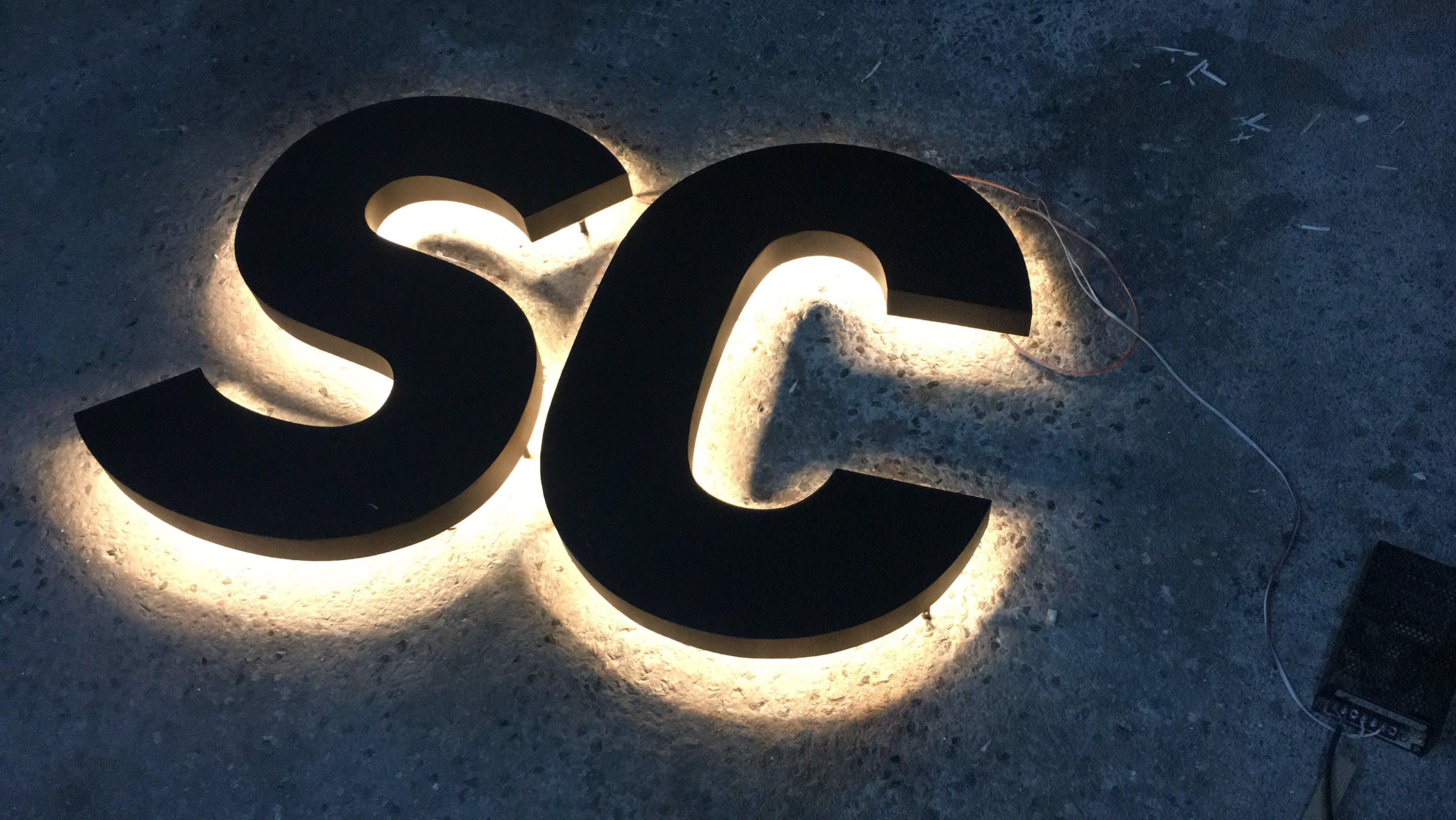 Black SC Cutout Lighted Decor