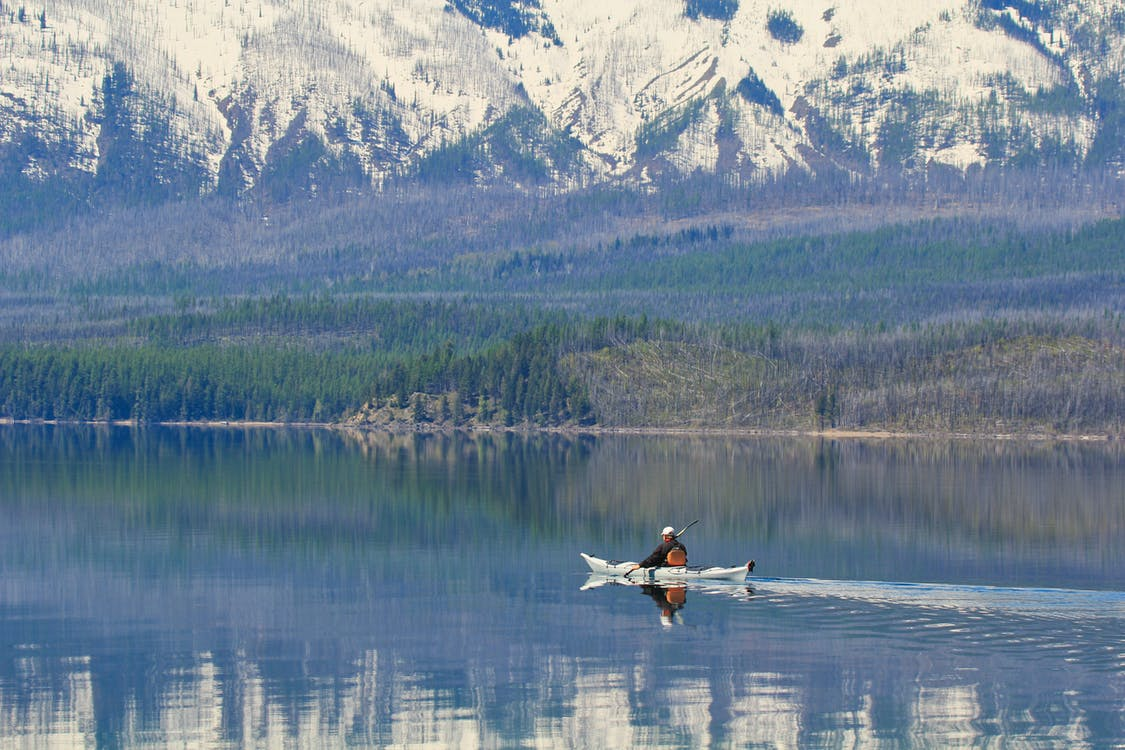 冬季, 冰川國家公園, 冰河