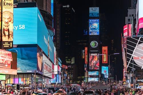 LED, シティ, ショッピング, タイムズスクエアの無料の写真素材