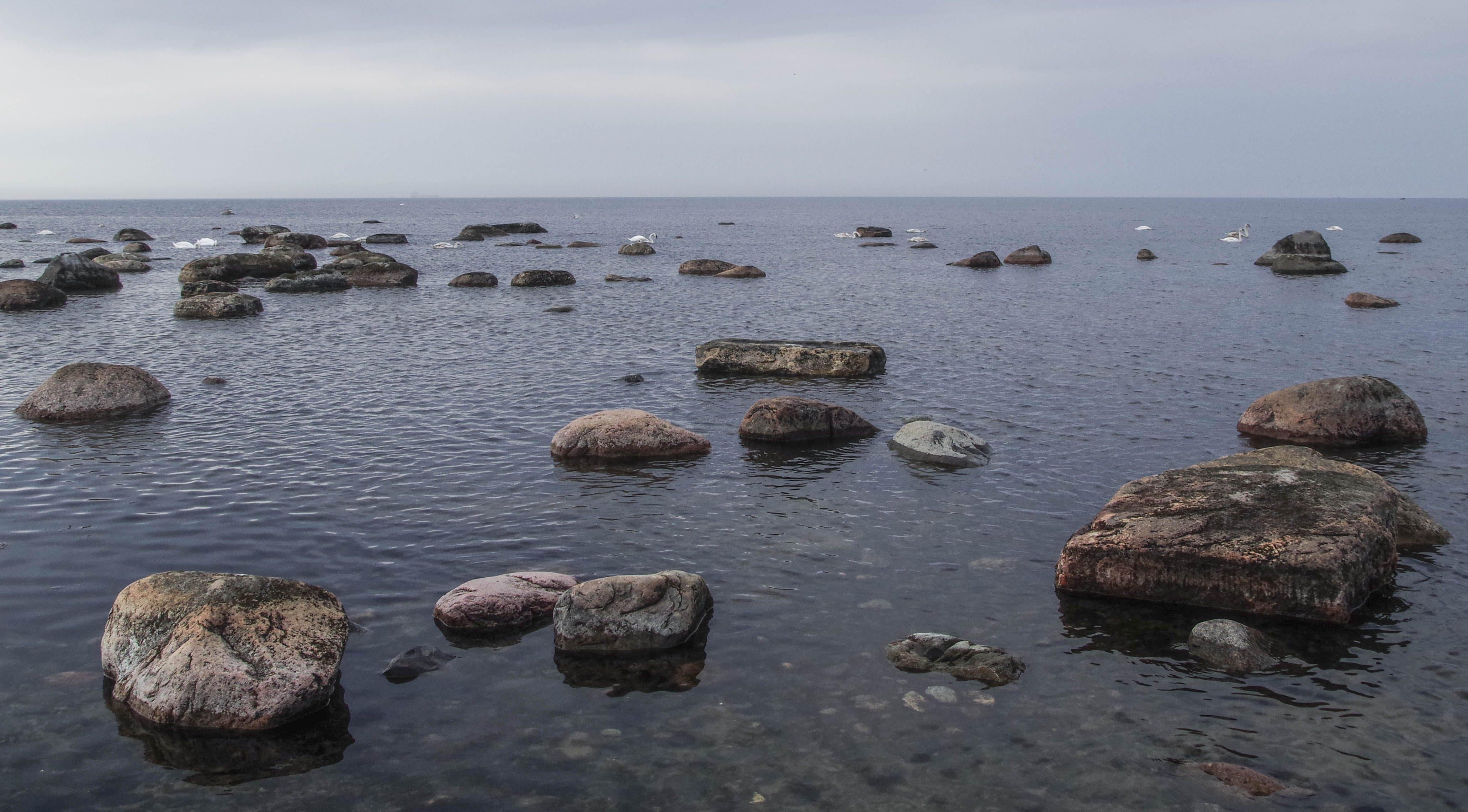Stone in Beach Photograph