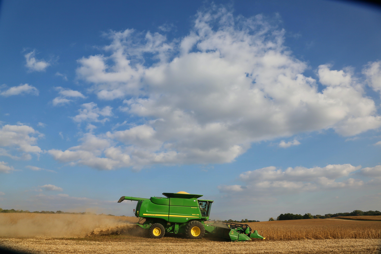 Green Harvester at Daytime