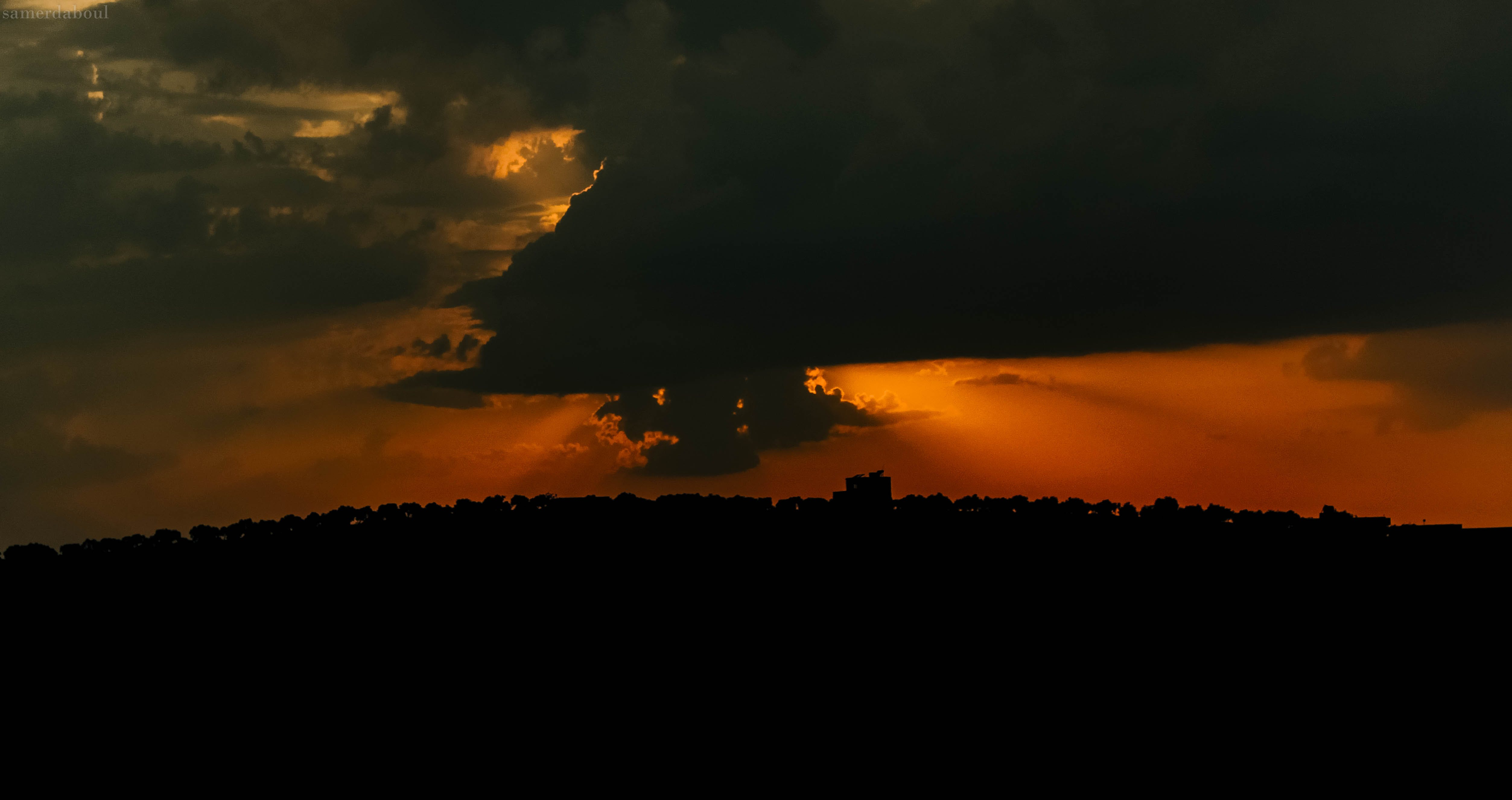 clouds, color, dark