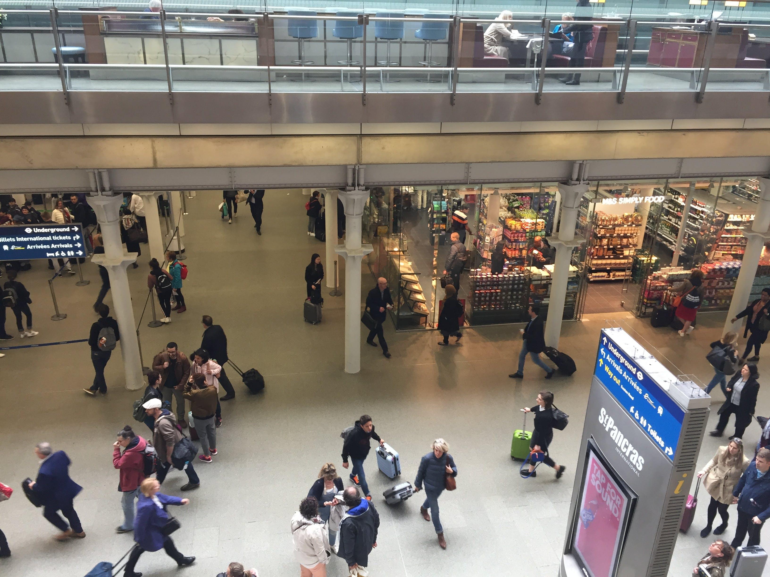 Free stock photo of Eurostar concourse, St Pancras International Station