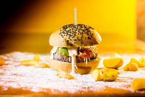 Photos gratuites de aliments, burger, burger rustique, fast food