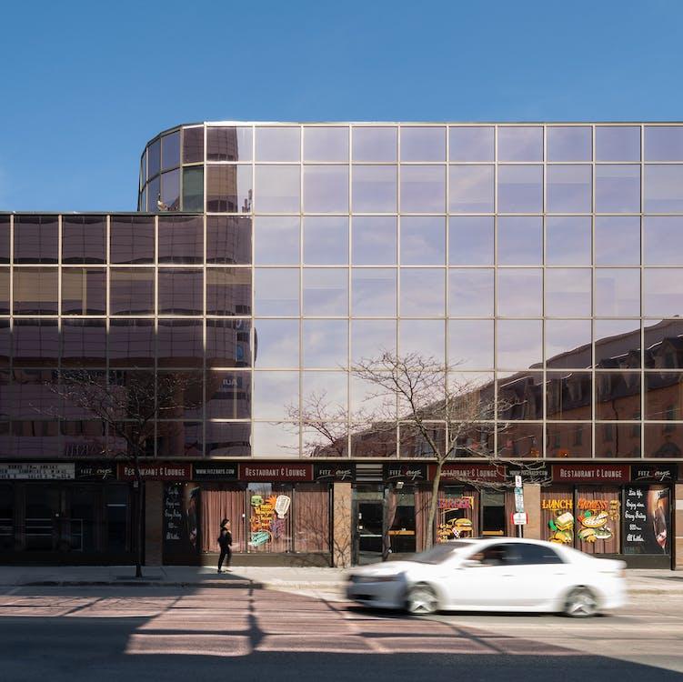 architecture, blurred car, building