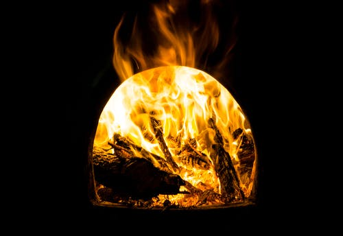 Free stock photo of beautiful, brassiere, fire, flames