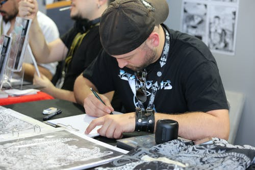 Free stock photo of at work, comicon, comics, drawing
