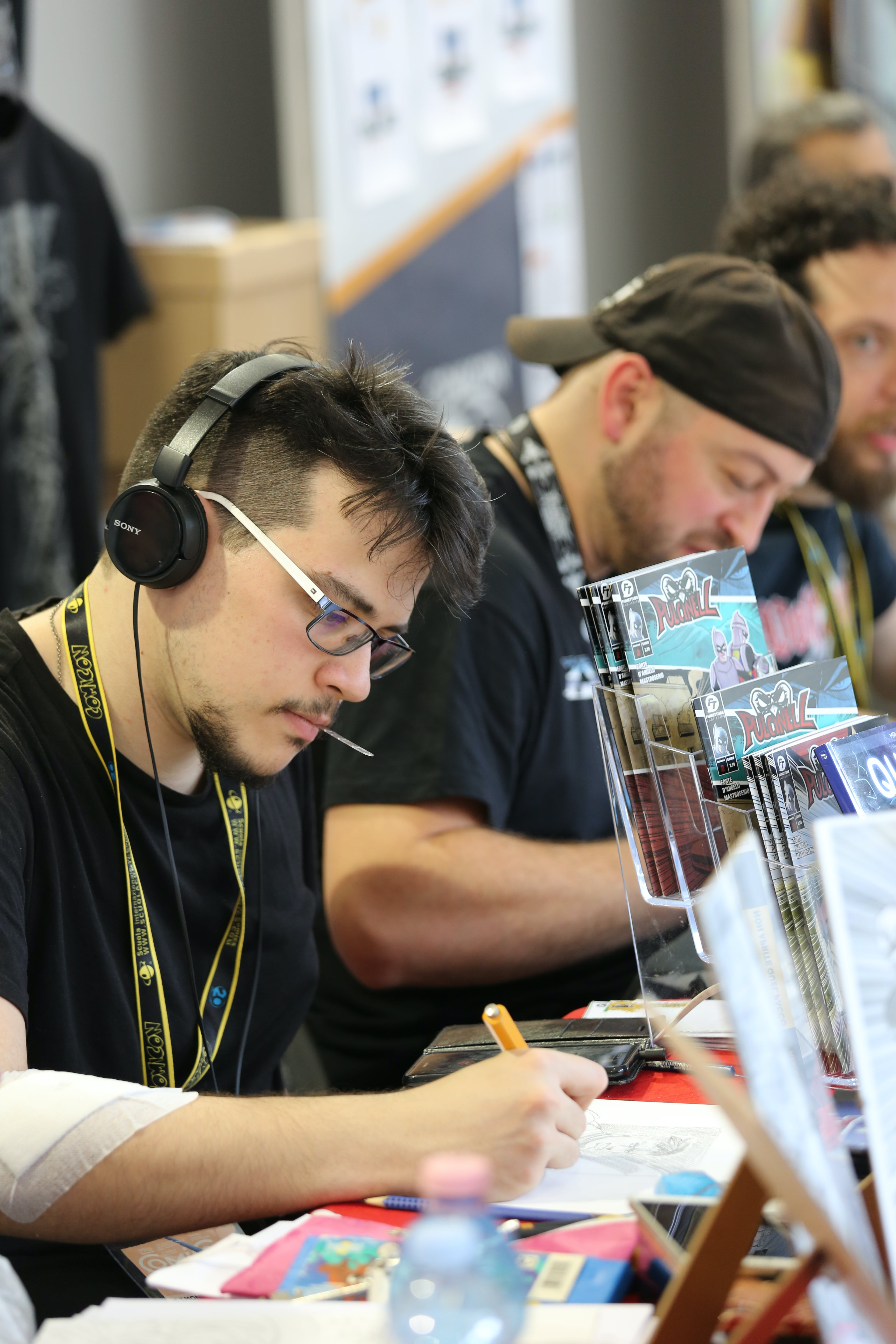 Free stock photo of at work, comicon, comics, creativity